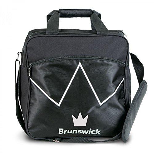 Bowling-Ball Tasche Brunswick Blitz Single Tote für Bowling-Kugel und Bowling-Schuhe , Farbe:Schwarz