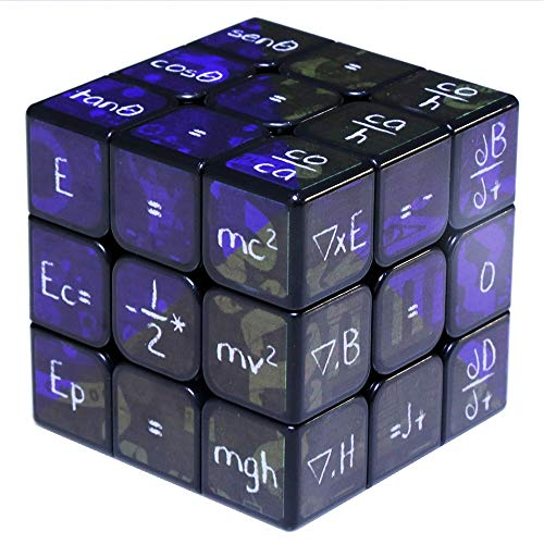 SXPC Impresión UV Fórmula matemática 3x3x3 Cubo mágico 5.6 cm Juguetes educativos para niños Niños,Black
