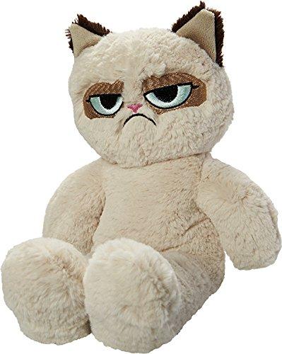 Rosewood 14019.0 Hochwertiges Plüsch-Hundespielzeug von Grumpy Cat, mit eingearbeitetem Squeaker, Höhe: 37cm, beige