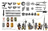 Mittelalter Serie. Kreuzfahrer-Ritter-Rüstung, Wikinger-Rüstung, Orc-Rüstung, Brute-Rüstung mit...