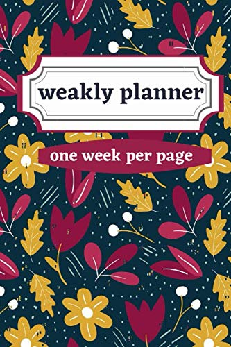 weakly planner one week per page: Weakly Calendar Planner Goals And To Do List