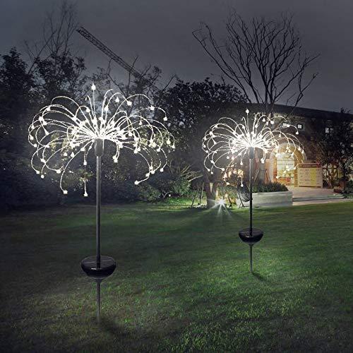 Elikliv Solar Powered Firework Starburst Garden Outdoor Stake Light 150LED Warm White Solar Pendant LED Light Decorative Lights Dandelion Shed Lights Decoration Lamp for Barn Farm Garden Yard Patio