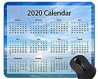 カレンダー2020年マウスパッド滑り止め、シーガルビーチテーマラバーマウスパッド