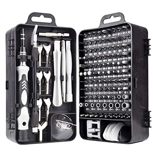 Gesh Juego de herramientas magnéticas 135 en 1 para teléfono móvil, tableta, ordenador, gafas de reparación electrónica, kit de herramientas de bricolaje