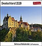 Sehnsuchtskalender Deutschland - Kalender 2020 - Harenberg-Verlag - Postkartenkalender mit 53 heraustrennbaren Postkarten - 16 cm x 17,5 cm