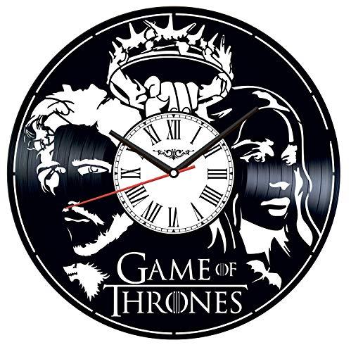 Juego de Tronos Vinilo Record Reloj de Pared Estilo Retro Reloj de Pared Silencioso Decoración para el Hogar Arte Único Accesorios Especiales para el Hogar Creativo Regalo Personalidad