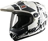 Origine Helmets Gladiatore Dakar Casco Integral, Blanco Bril