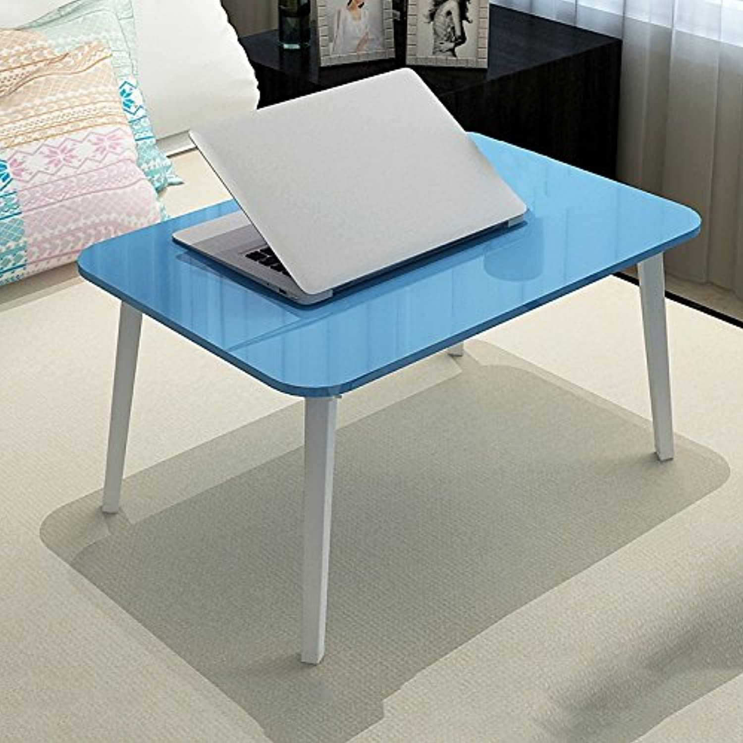 XUERUI Folding Tables Bed Use Folding Table Computer Desk Student Dormitory Use Writing Desk Beige bluee Brown Pink White