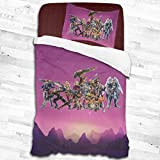 Foflytimi Xeno-Blade Chronicles 2 Piece Bedding Set,Bedding Ultra Soft and Easy Care (1 Duvet Cover and 1 Pillow Cover) 53'X79'