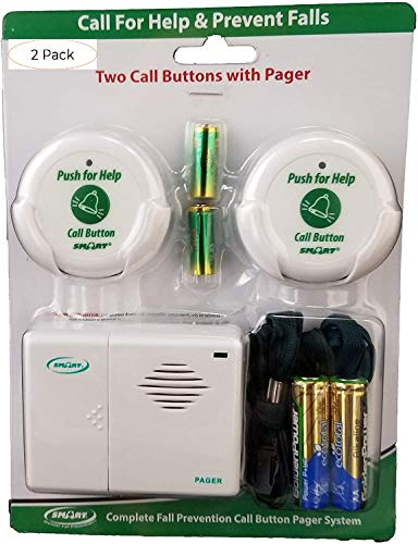 Smart Caregiver Two Call Buttons & Wireless Caregiver Pager (Two Расk)