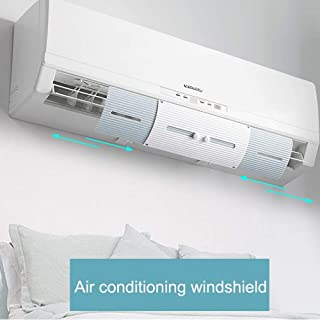 Air Vent Deflector, leegoal Telescopic Air Conditioner Deflector Confinement Air Deflector Wall-Mounted air Conditioning Baffle Outlet Air Wing Air Cooled Anti Blast Baffle Wind Direction