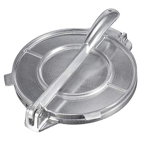 TaiRi Tortilla Maker, 20 cm Faltbarer Tortilla Maker, Aluminium-Teigpresse Hochleistungs-Restaurantwerkzeug, Home Pie-Werkzeug für Fladenbrot/Pita/Tacos/Roti/Burrito/Picknicks/Frühstück