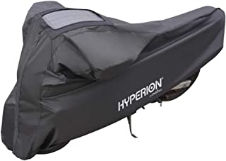 Hyperion Motorcycle Cover with Solar Charger: Large Weatherproof Motorcycle Covers with Solar Panel for Outdoor Storage - Heavy Duty Motorcycle,  Cruiser,  and Sport Touring Bike Cover - HYP-MOT-L