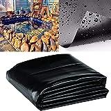 Bâche de protection pour bassin, jardin, piscine, ferme, film anti-infiltration, tissu PEHD noir, 3 x 2 m, Voir image, 0.25mm 长3*2m