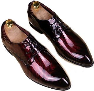 XINGJU Moda para Hombre British Plus Velvet Zapatos De Cuero En Punta Zapatos De Charol Brillante para Hombre Zapatos De V...