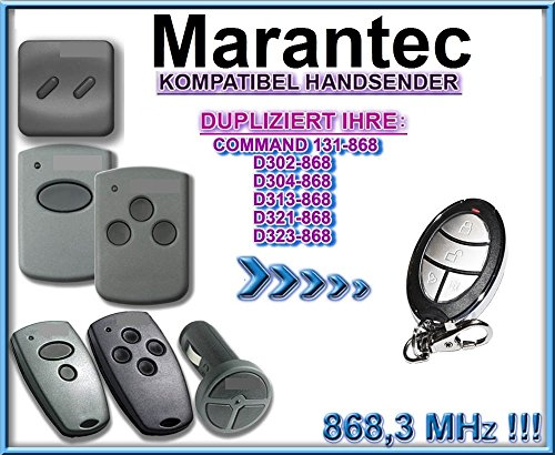 MARANTEC D302-868, D302-868, D313-868, D321-868, D323-868, COMMAND 131 kompatibel handsender, klone fernbedienung, 4-kanal 868.3Mhz fixed code. Top Qualität Kopiergerät!!!