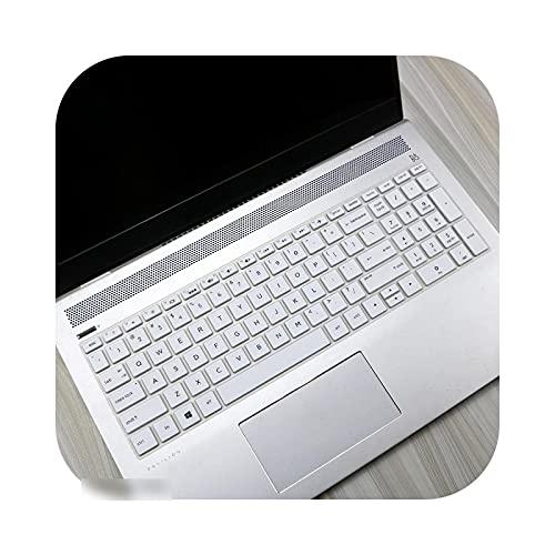 Teclado para teclado HP Pavilion, cubierta de teclado de 15,6 pulgadas para HP Pavilion Gaming 15-Ec1006Ax 15 Ec0013Dx 15-Ec0100Ax 15-Ec0042Ax 15-Ec1016Ax AMD-White