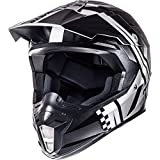 MT sincronía Endurance casco de Motocross, Anthracite Silver Black