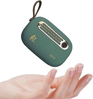 充電式カイロ 電気カイロ モバイルバッテリー機能 6800mAh 大容量 小型 軽量 速熱 恒温52℃ ハンドウォーマー Type-C入力 USB出力 ストラップ付き 可愛い USBカイロ 電気あんか 寒さ対策 PSE認証済(グリーン)