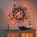 Black Bat Light Halloween Wreath (26 Inch Diameter) Halloween Decorations