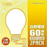 オーム 白熱電球 LW100V57W2PA 箱2個