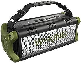 50W(70W Peak) Wireless Bluetooth Speakers Built-in 8000mAh Battery Power Bank, W-KING Outdoor Portable Waterproof TWS, NFC Speaker, Powerful Rich Bass Loud Stereo Sound (Green)