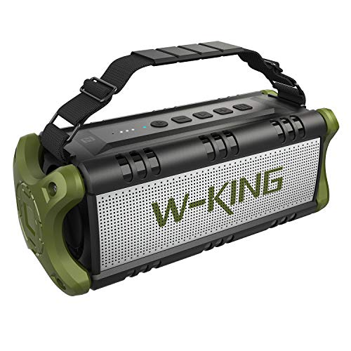 50W(70W Peak) Wireless Bluetooth Speakers Built-in 8000mAh Battery Power Bank, W-KING Outdoor Portable Waterproof TWS, NFC Speaker, Powerful Rich Bass Loud Stereo Sound for Home/Party/Phone Charging