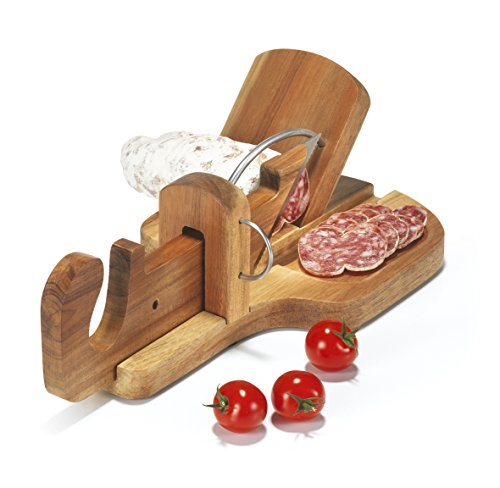 APERI FUN Guillotine à Saucisson Bois Marron 28,3 x 16...