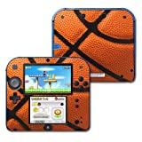 MightySkins Skin Compatible with Nintendo 2DS - Basketball | Protective, Durable, and Unique Vinyl Decal wrap...