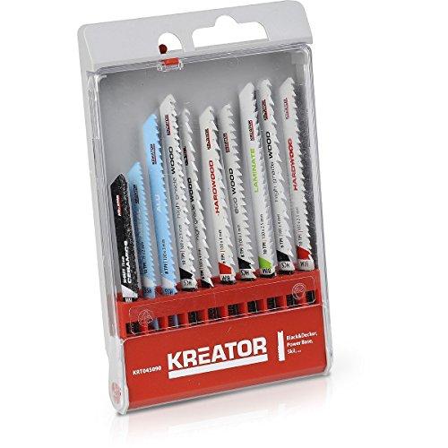 KRT045090 Set decoupeerzaagbladen decoupeerzaag 10-delig voor VARO, Bosch, Blecker & Decker etc.