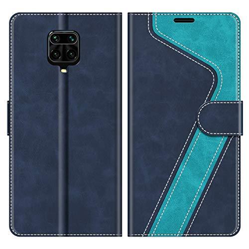MOBESV Handyhülle für Xiaomi Redmi Note 9 Pro Hülle Leder, Xiaomi Redmi Note 9S Klapphülle Handytasche Hülle für Xiaomi Redmi Note 9 Pro/Redmi Note 9S Handy Hüllen, Modisch Blau