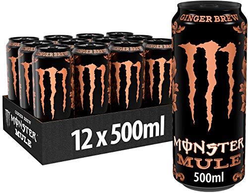 Monster Energy Mule, 12x500 ml, Einweg-Dose, im Trend-Flavor Ingwer und mit Zero Zucker