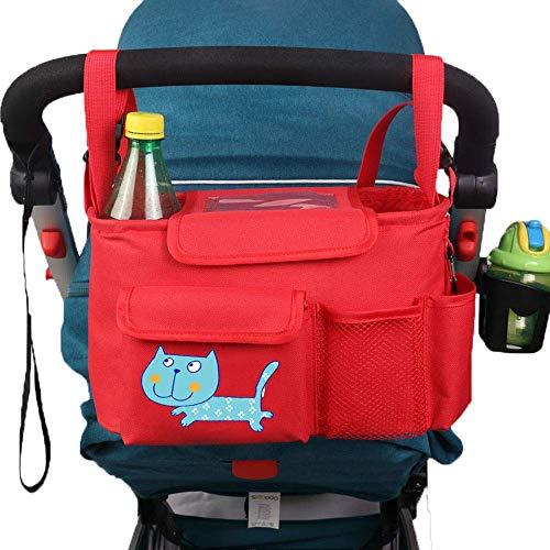 Elise kinderwagen opbergtas Baby, vliegtuig universele babytas, grote capaciteit rugzak, kleur: zwart, rood 30cm*14cm*18cm
