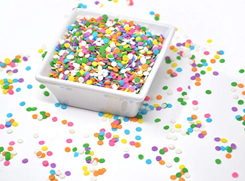 Oasis Supply Edible Confetti Sprinkles Cake Cookie Cupcake Quins Pastel Sequin (8 Ounces)
