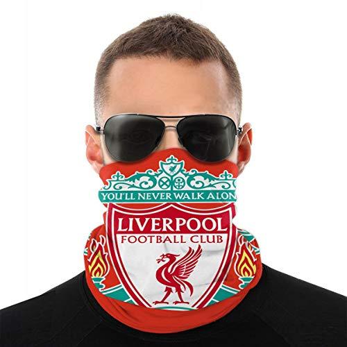 Liverpool FC Logo Europ Champion Blanket Digital Printed Breathable, Comfortable and Dustproof Sports Face Mask Seamless Half Face Bandanas Balaclava White