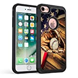 iPhone 8 Case,iPhone 7 Case,Rossy Heavy Duty Hybrid TPU Plastic Dual Layer Armor Defender Protection Case Cover for Apple iPhone 7 & 8 (4.7 inch),American Flag Baseball