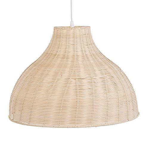 Beliani Lámpara de Techo de ratán marrón Claro MILLIAN