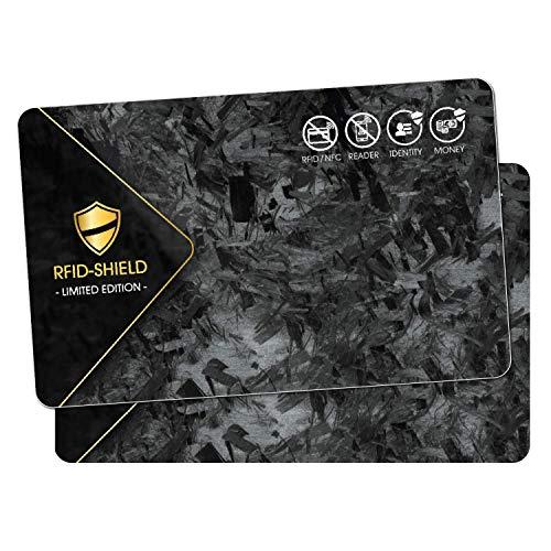 2X NFC Shield Card - Limited Edition - RFID & NFC Schutz/Blocker - Made in Germany - Schützt Das gesamte Portmonnaie & Kartenetui mit Ihren EC und Kreditkarten - Nie Wieder RFID Schutzhüllen notwendig