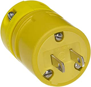 Locking Blade 3ft Cord Length 12-Gauge SOOW Cord 2 Poles NEMA L5-20 Configuration Yellow 3 Wires 20A Current Rubber 125V Voltage Woodhead 2647-W Super-Safeway Molded W Cordset Industrial Duty