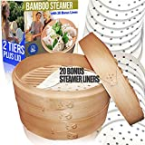 10' Bamboo Steamer/ 2 Tiers & Lid by...