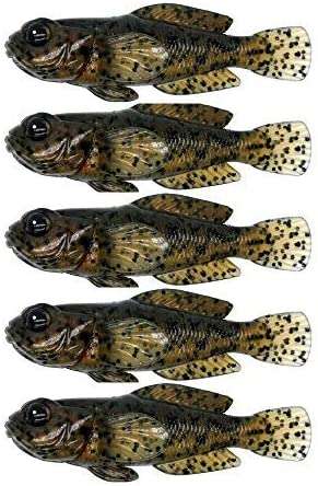 Luxury goods 5pcs Pack 75mm 9.3g 0.33oz 3inch Goby Fish Ultra Bait Product Realistic
