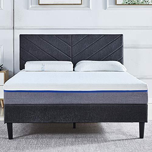LANKOU Double Mattress Medium Firm Gel Memory Foam UPS delivery Natrural Breathable (Gel memory foam mattress 4FT6 137cm*191cm)