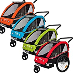 Veelar Sports 2 in 1 kinderen hangfiets trailer hanger met buggy set jogger BT502-D02 groen*
