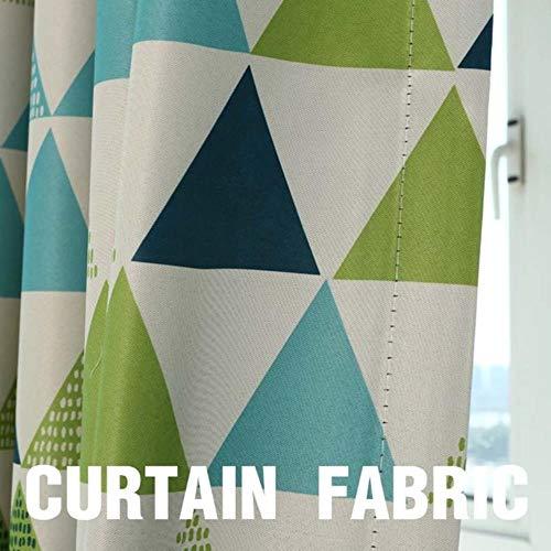 Moderne geometrische raambekleding Gordijnen voor woonkamer voor slaapkamer Verduisteringsgordijnen Keuken Kinderkamer, Gordijnstof Groen, B500 x H 250cm