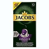Jacobs Lungo 8Intenso, Cápsulas de Café, Compatible con Nespresso, Café, 50Cápsulas, Á 5.2g