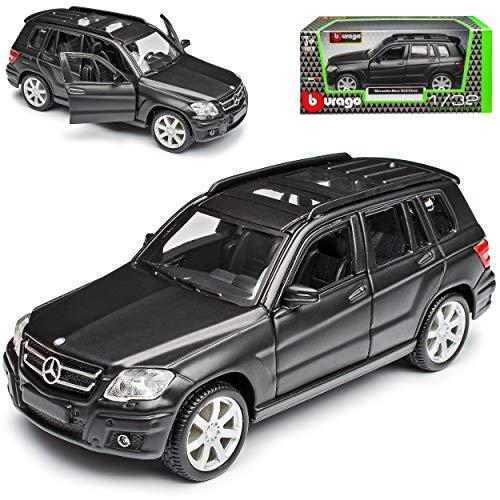 Mercedes-Benz GLK X204 Matt Schwarz 2008-2015 1/32 Bburago Modell Auto mit individiuellem Wunschkennzeichen
