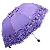 Black Gothic Umbrella Ruffled Lace Parasols Goth Umbrella Gothic Parasol Wedding Purple