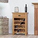 The Furniture Outlet Rutland Oak Wine Cabinet
