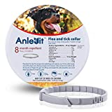 Flea and Tick Collar for Dogs,Anlevit 8-Month Flea and Tick Repellent for Dogs,Suitable for Dogs over 7 Weeks, Collar Length 24 Inch