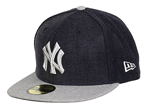 New Era 59Fifty Heather Blender Cap 7 3/8 inches across Navy Grey